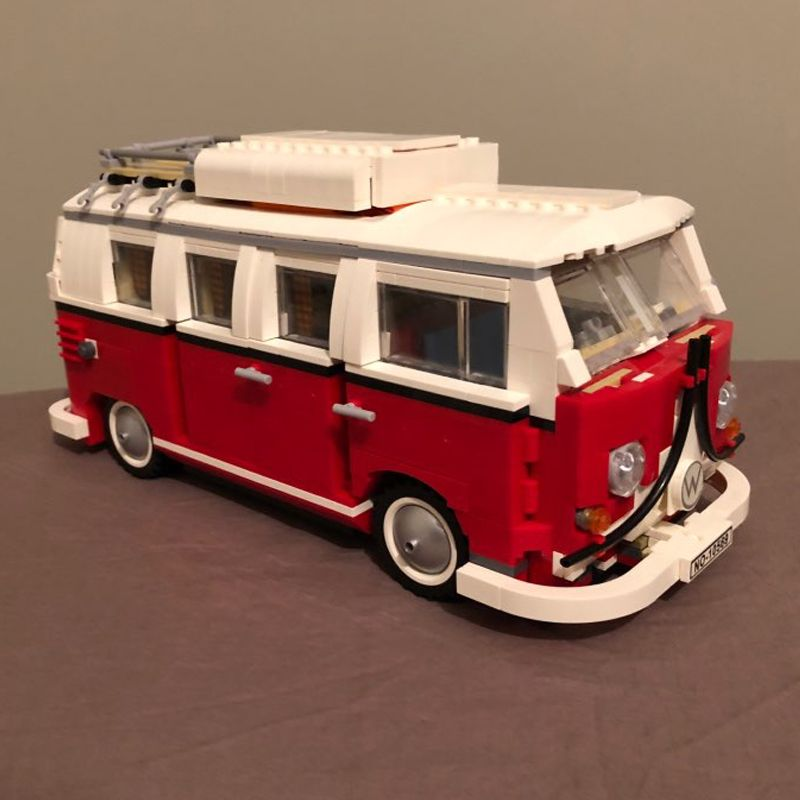 building bricks 21001 1354Pcs Create Series Creator Volkswagen T1 Camper Van Model Building Kit Blocks Bricks Toys 10220