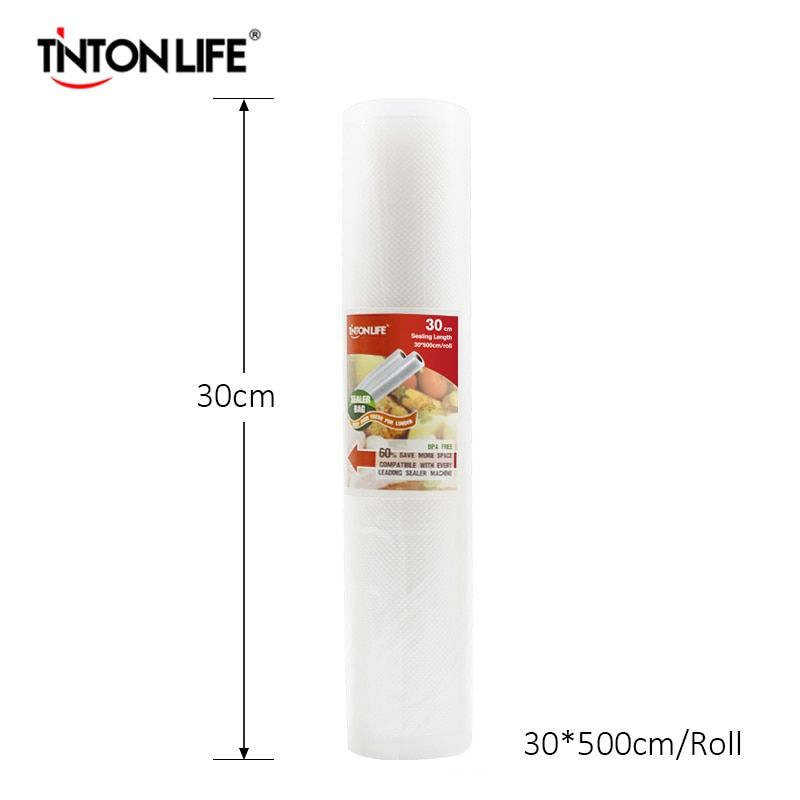 TINTON LIFE 30cmx500cm/roll Vacuum Sealer Food Saver Bag Kitchen Use Saran Wrap