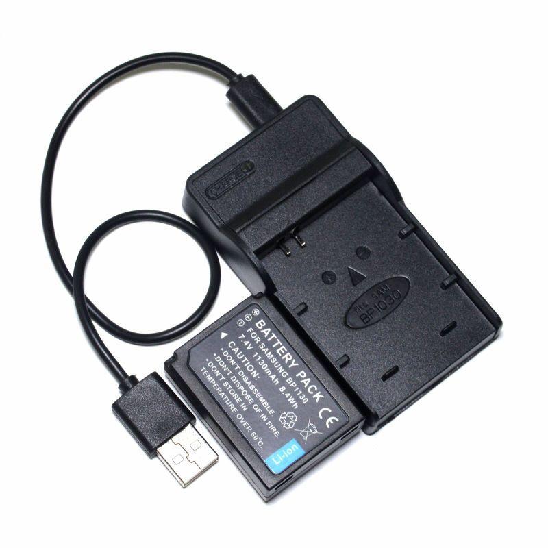 BP1030 BP1130 Batterie und + USB Ladegerät für Samsung NX1000 NX1100 NX200 NX2000 NX210 NX300M NX300 NX310 NX500 Kamera
