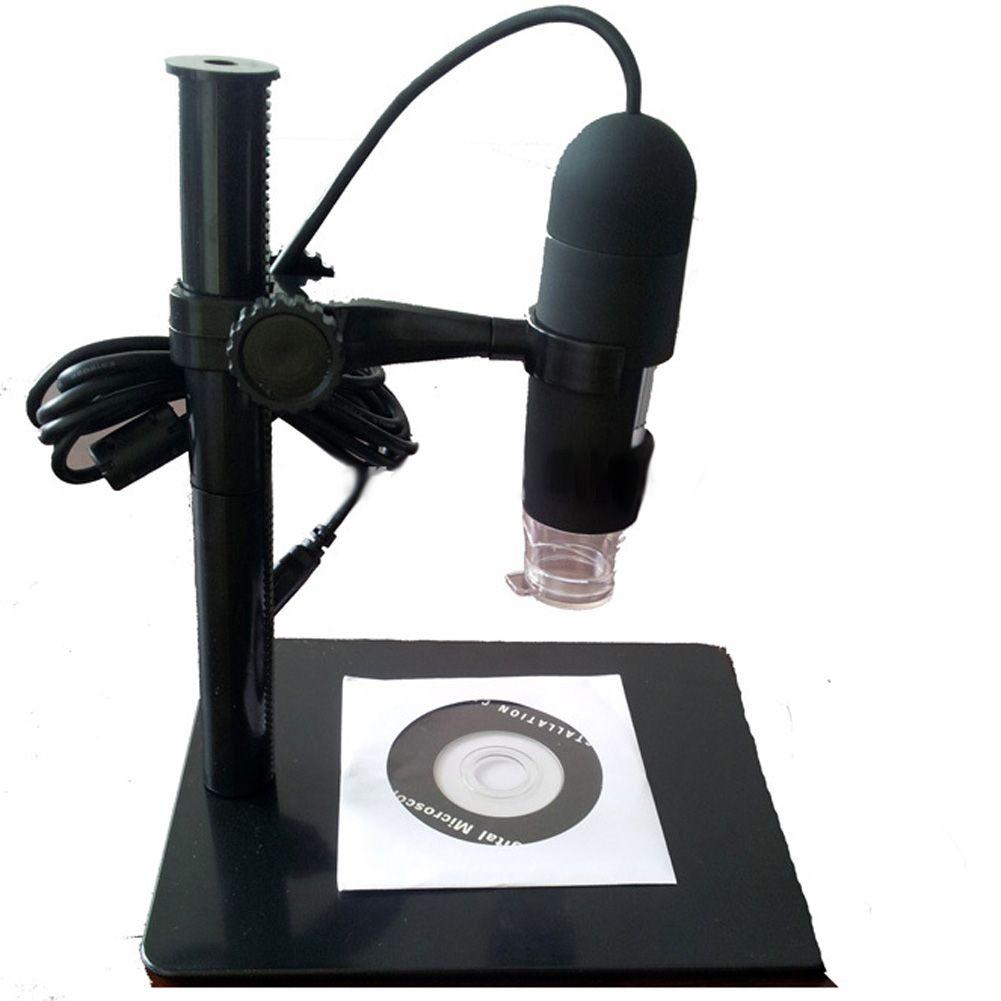 10X-220X USB Microscope électronique numérique Loupe caméra Loupe avec 8 lumière LED 5MP avec support de levage Loupe de bureau