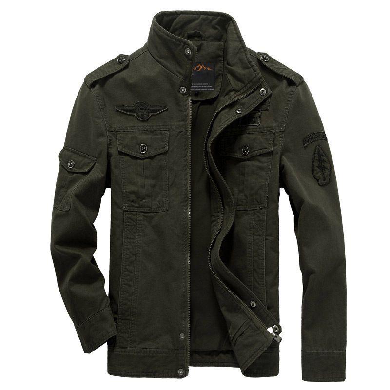Brand Casual Man Jackets Army Spring NEW 2018 Mens Green Khaki 3 Colors Military Jacket Winter Cargo Plus size M-XXXL 5XL 6XL