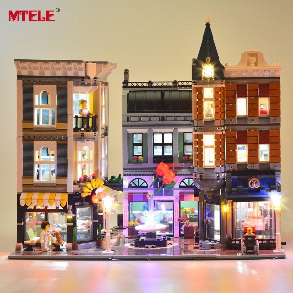 MTELE LED Light kit For The Assembly Square Set City Building Block Light Set Compatible with Lego 10255 And 15019