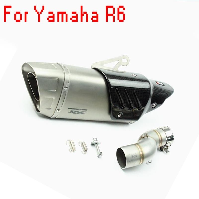 Slip-On Motorcycle Exhaust Pipe Muffler Motorbike Motorcross Scooter for Akrapovic Exhaust System yamaha R6 2007-09 2010-18 year