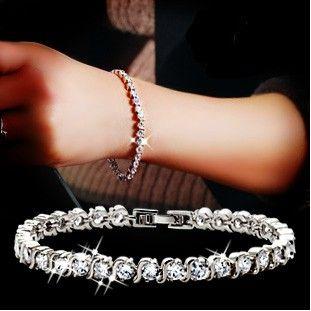 Новый 2016 Кристалл Циркон браслет женский любителей моды 925 серебро ladies'bracelets ювелирных оптовых подарок на день рождения