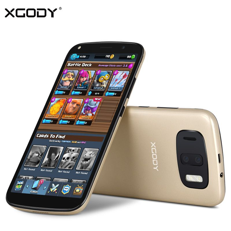 XGODY Y24 3G Unlock 6 Inch 18:9 Face ID Mobile Phone Android 6.0 2780mAh MTK6580A Quad Core 1GB RAM 8GB ROM Smartphone 13.0MP