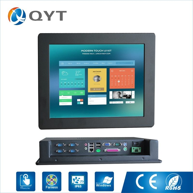 15 ''Embeded PC ip 65 Touchscreen Auflösung 1024x768 panel pc/Industrial Computer mit intel Celeron C1037U 1,8 GHz LPT/5 * RS232