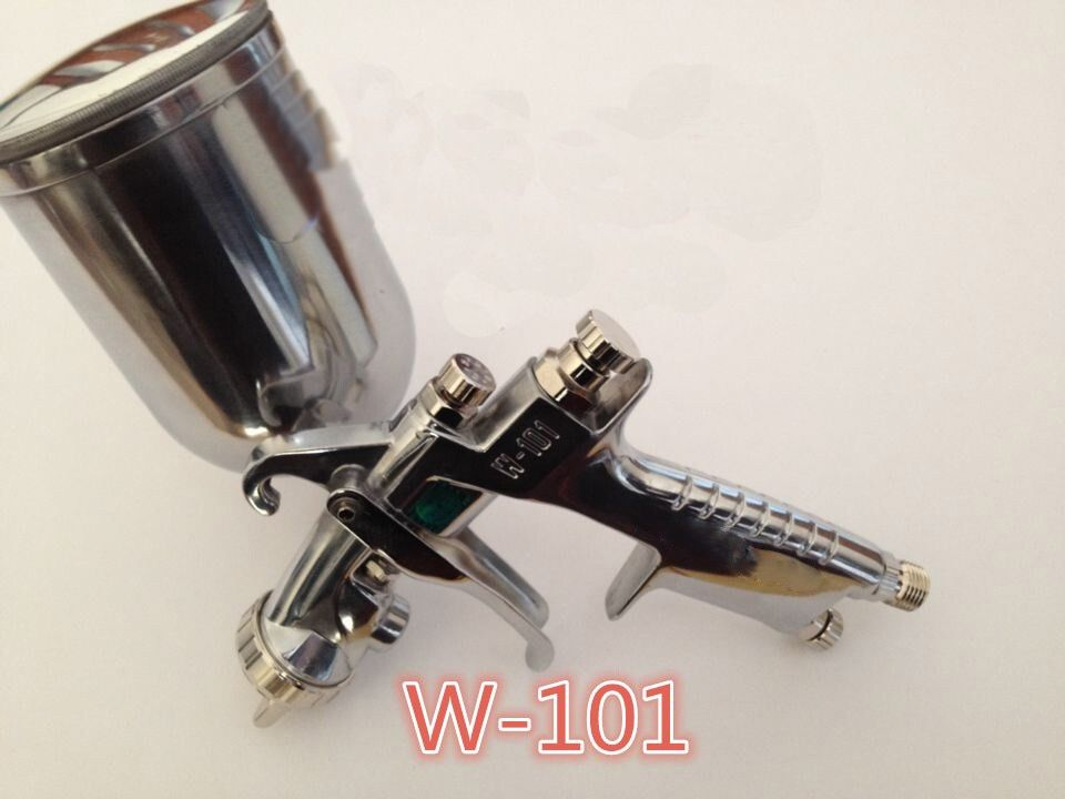 Free Ship HVLP 101 painting spray gun Gavity feed 0.8/1.0/1.3/1.5/1.8 H2 air cap nozzle with 400 cup