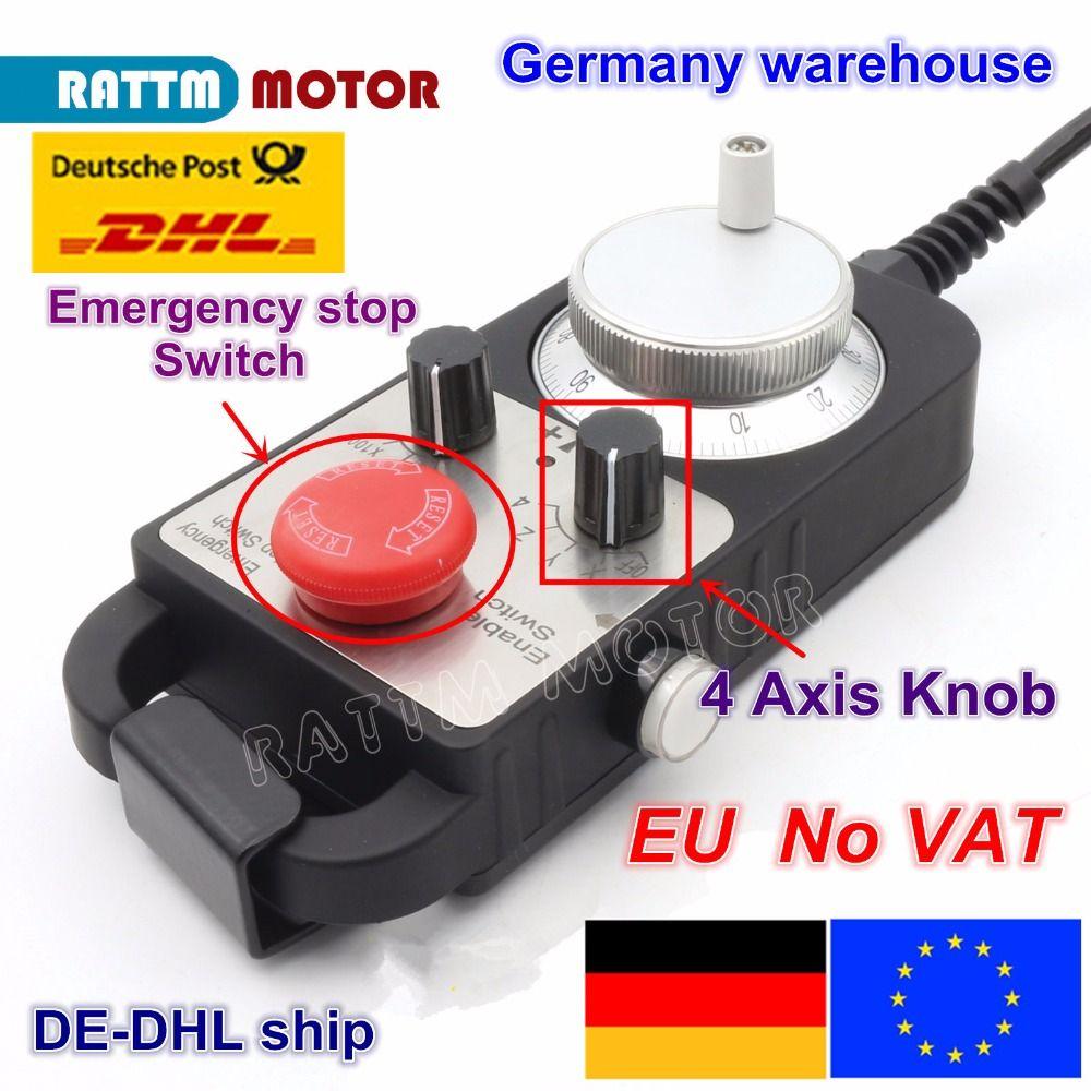 EU schiff kostenloser MEHRWERTSTEUER Notfall stop hand rad Universal CNC Router Hand Rad 4 Achsen MPG Anhänger Handrad Notfall Stoppen