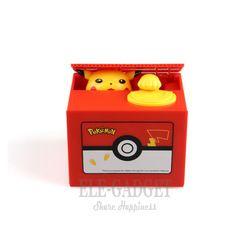 2019 New Pokemon Electronic Plastic Money Box Steal Coin Piggy Bank Money Safe Box For Birthday Gift Desk Decor