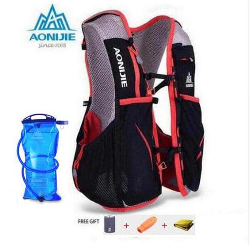 AONIJIE 5L Frauen Männer Marathon Trink Weste Pack Für 1.5L Wasser Tasche Radfahren Wandern Bag Außen Sport Lauf Rucksack