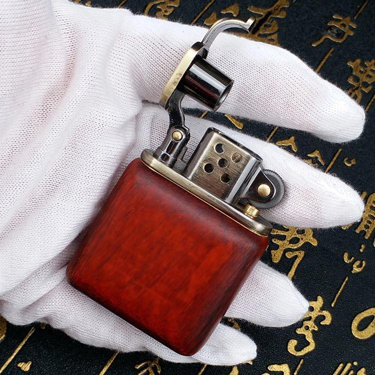 ZORRO bois de rose Vintage essence briquet kérosène pour allume-cigare essence meules allume-feu