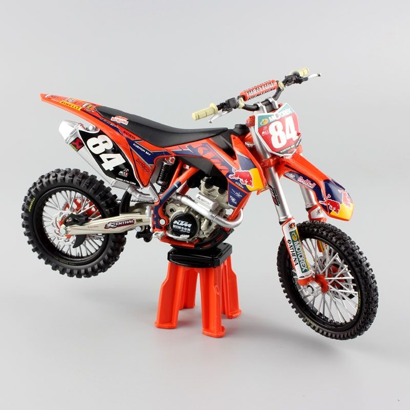 1:12 mini scale KTM SXF 250 No.84 redbull racing enduro Motocross SUPERMOTO off road Motorcycle Diecast model Replica child toy