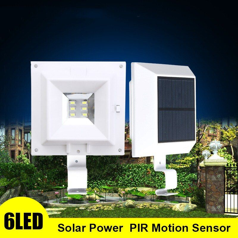 Mising 6 LED Light Waterproof Solar Powered Lamp Wall Mount Lamp Night Light For Outdoor Wall Fence Pathway Garden Patio Gutter