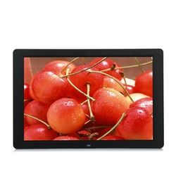 15 Inch Multifunctional HD Digital Photo Frame/Electronic Picture Album with Mirror Panel Music/Video/Ebook/Time/Alarm