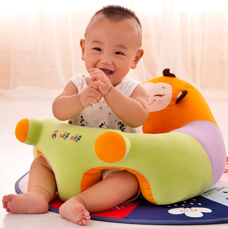 NEWONE Baby Seats Sofa Plush Support Seat Without PP Cotton Filling Material Only Cover Comfort Infant Seat Learning Skin