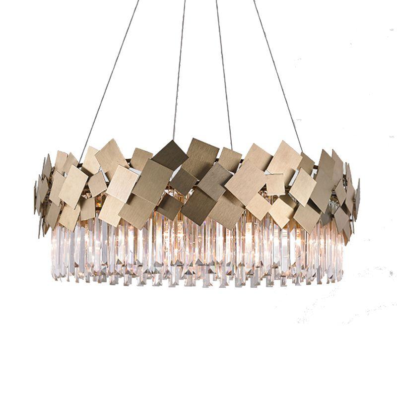 modern gold crystal chandelier LED lamp AC110V 220V lustre living room chandeliers bar light
