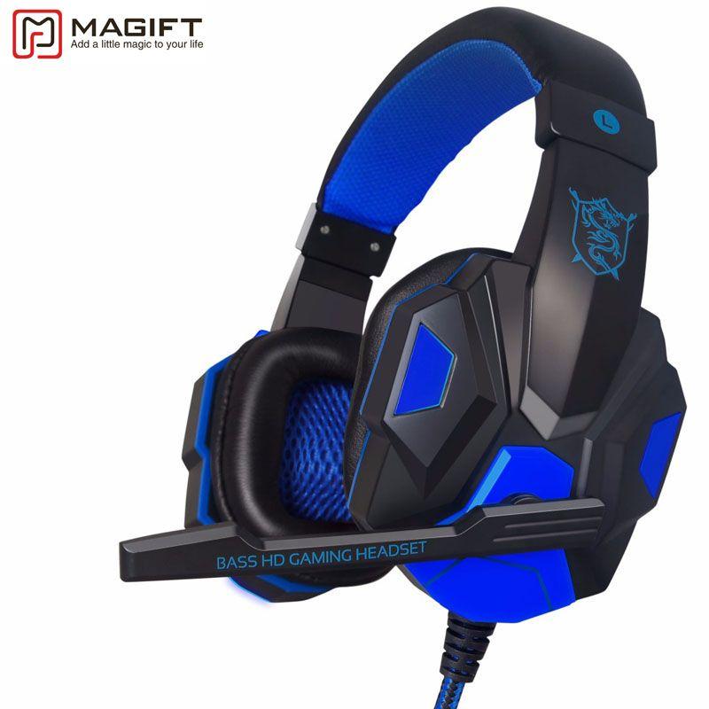 Haute Qualité Sound Effect Gaming Casque avec LED Lumière Sur oreille Lumineux Stéréo Casque avec Micro pour Ordinateur PC Portable Gamer