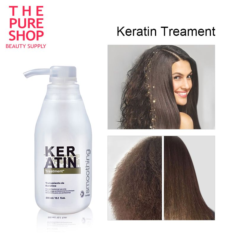 Traitement brésilien de cuir chevelu de cheveux de kératine 300ml traitement de réparation de redresseur de cheveux de formol 5% pour le soin frisé endommagé de cheveux bouclés