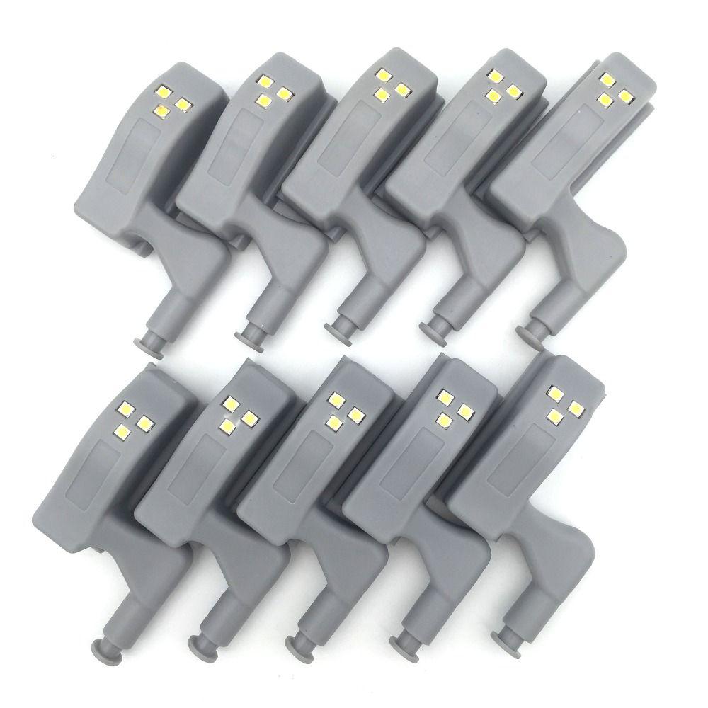 10Pcs Cabinet Hinge Light Inner Hinge LED Sensor Light for Kitchen Bedroom Living Room Wardrobe Night Light Wardrobe Light