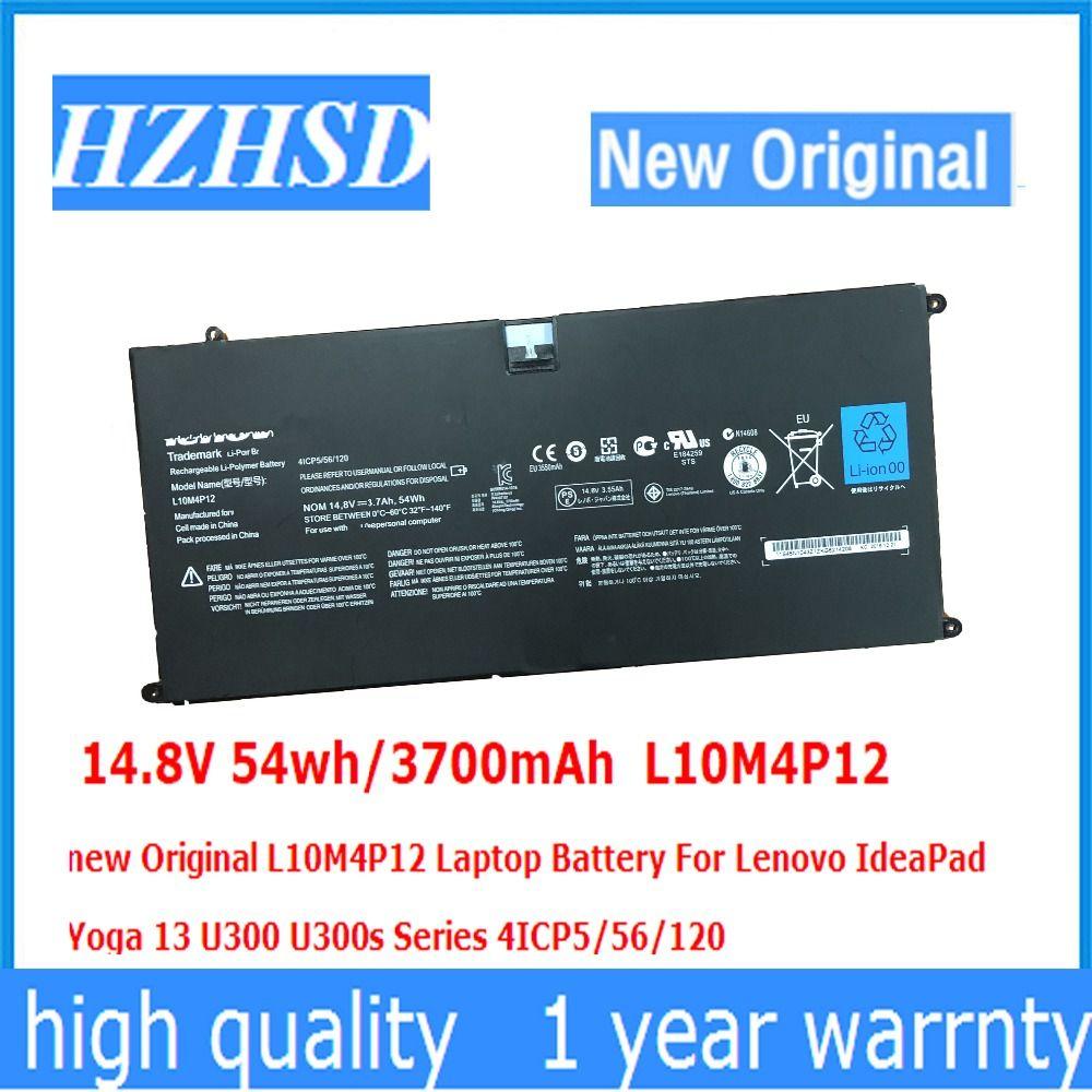 14,8 V 54wh/3700 mAh L10M4P12 neue Original L10M4P12 Laptop Akku Für Lenovo IdeaPad Yoga 13 U300 U300s Serie 4ICP5/56/120