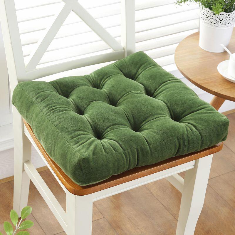Épaississement anti-dérapant coton chaise coussin Tatami siège Pad doux bureau chaise coussins voiture assis tapis hiver coussin jeter oreiller