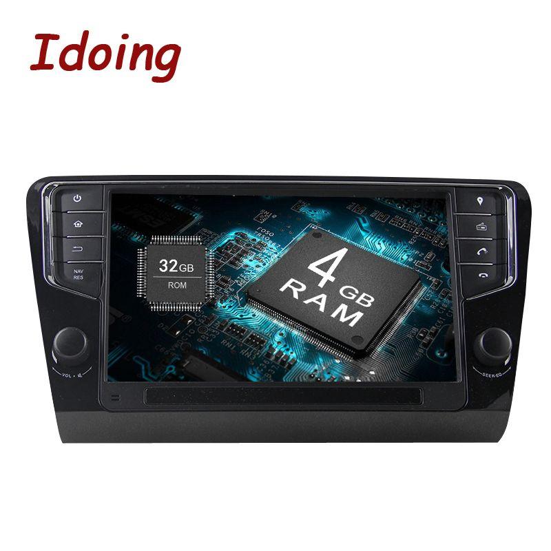 Idoing Android9.0 4G + 32G 8Core1Din Lenkung-Rad Für Skoda Octavia 2016 Auto Multimedia GPS-Spieler Schnelle boot TV 1080 P GPS + GLONAS