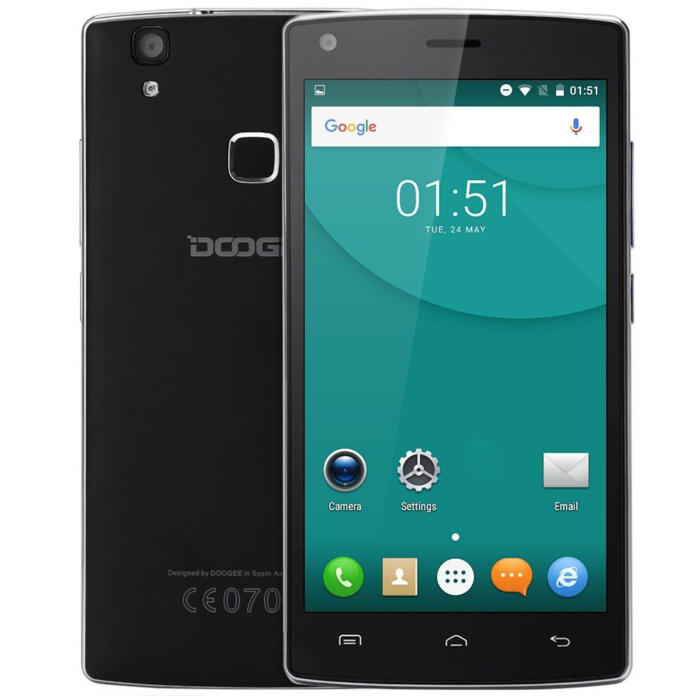 DOOGEE X5 MAX 5.0 inch Android 6.0 3G Smartphone MTK6580 Quad Core HD Screen 1GB+8GB  Fingerprint Sensor BT 4.0 Mobile Phone