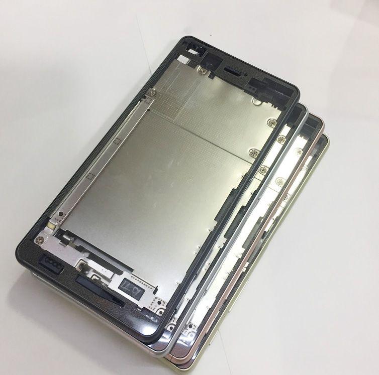4 Farben 100% Neue Gehäuse Metall Mittleren frame platte cover + tasten Für Sony Xperia XP F8132, Freies schiff