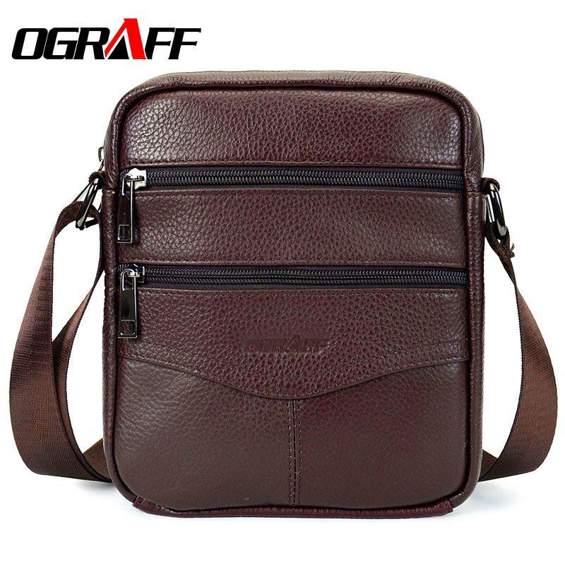 OGRAFF сумки мужские сумка через плечо сумка мужская сумки из натуральной кожи мужская сумка 2017 Знаменитые бренды мужская сумка дорожная сумк...