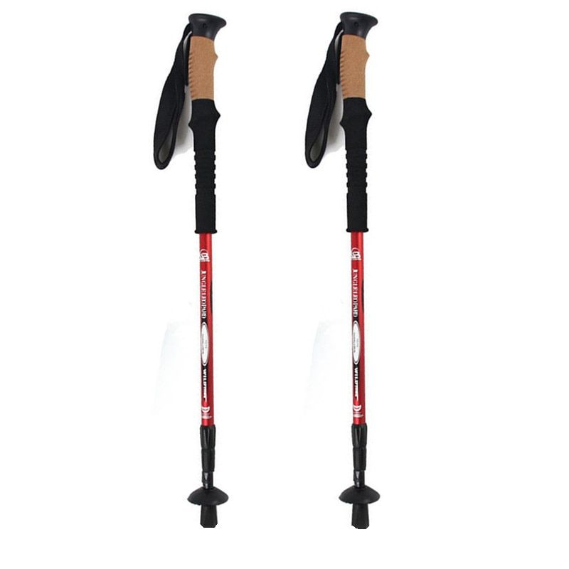Anti Shock Hiking,Walking,Trekking Trail Poles for Nordic Walking Telescopic Scandinavian Walking Sticks Hiking Equipment