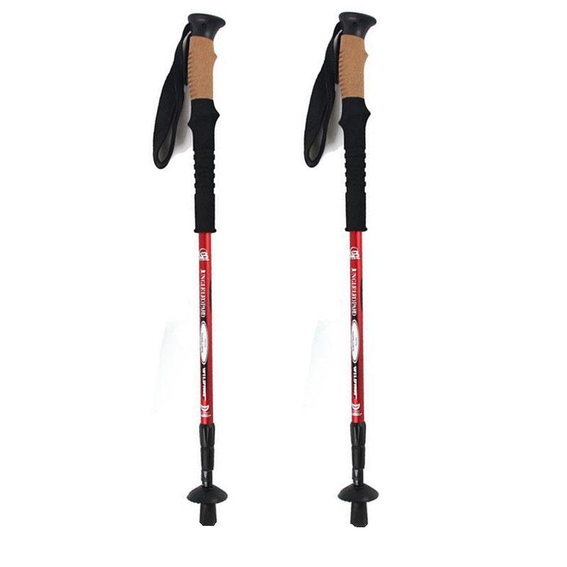 Anti Shock Hiking,Walking,Trekking Trail Poles for Nordic Walking Telescopic Scandinavian Walking Sticks Hiking <font><b>Equipment</b></font>