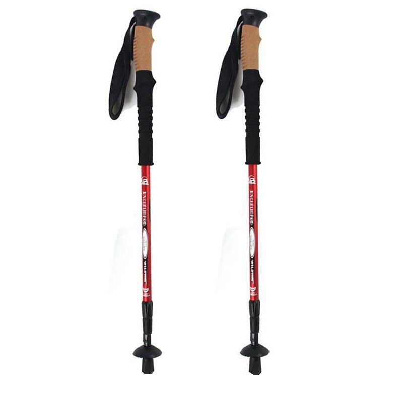 Anti Shock Hiking,Walking,Trekking Trail <font><b>Poles</b></font> for Nordic Walking Telescopic Scandinavian Walking Sticks Hiking Equipment