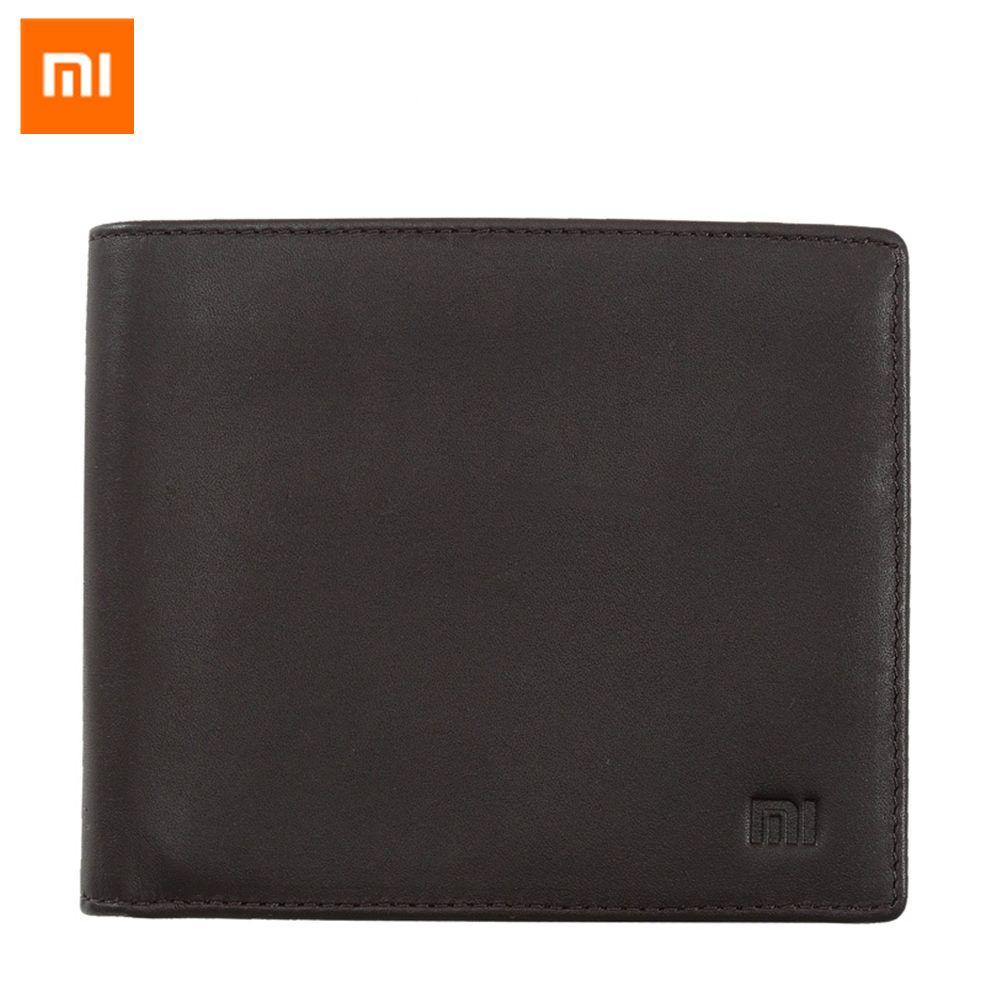 Original Xiaomi Leather Wallet Full Griand Genuine Folding Soft Purse Bag Man Stylish Business Cowhide Money Pocket High Quality