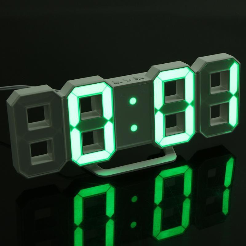 Moderne Numérique LED Horloge De Bureau 24 ou Heures Affichage D'alarme horloge pour Enfant Cadeaux de 3D LED Table Horloge Home Office décoration