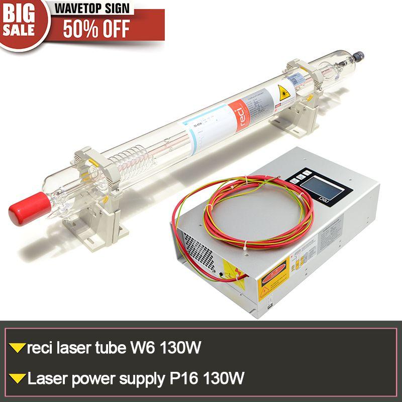 RECI лазерной трубки W6 130 Вт длина 1650 мм диаметр 80 мм 1 шт. + 130 Вт блок питания P16 1 шт.