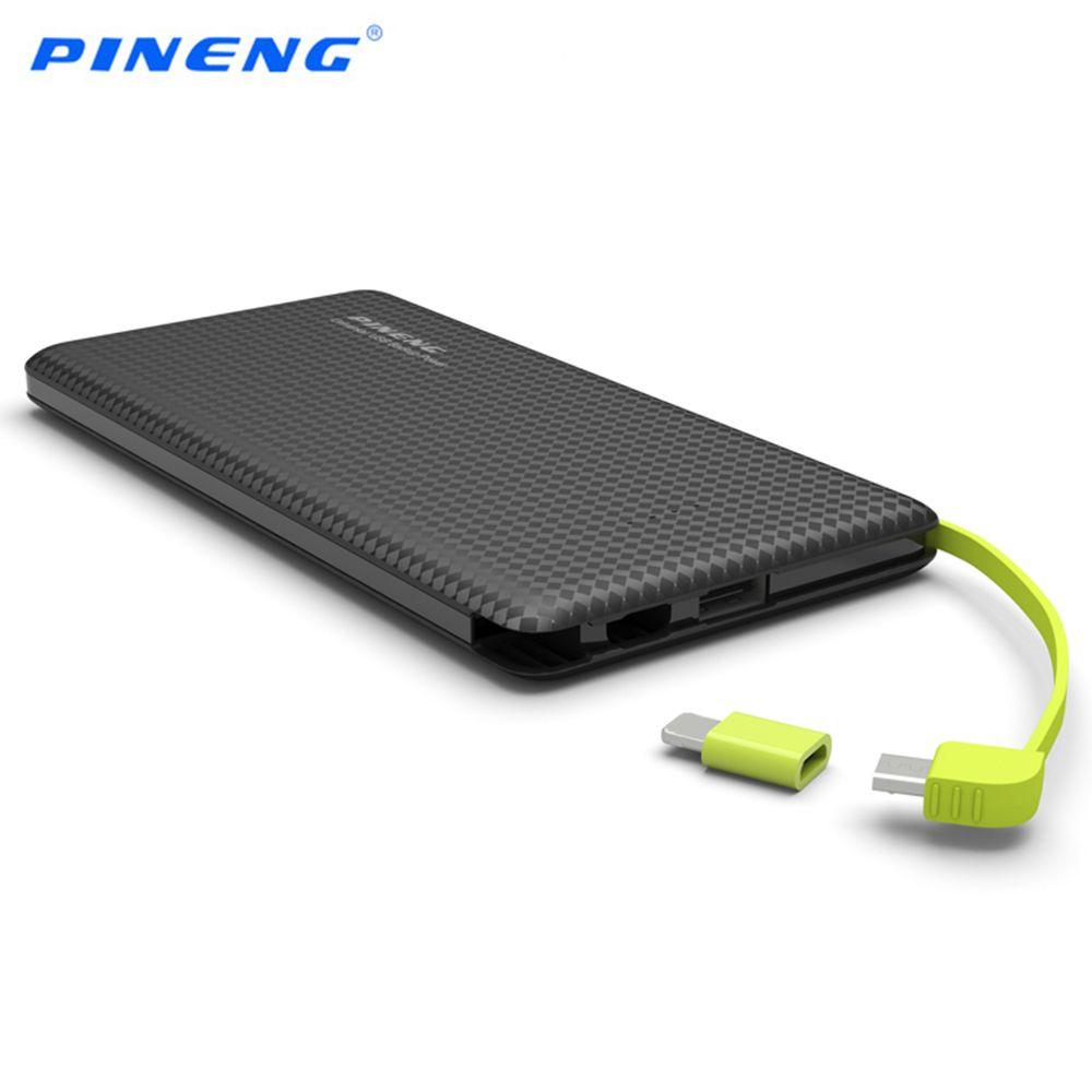 Оригинал PINENG PN951 Quick Charge Мощность Bank 10000 мАч Dual USB Батарея Bank Bateria наружный Зарядное устройство для телефонов и Планшеты
