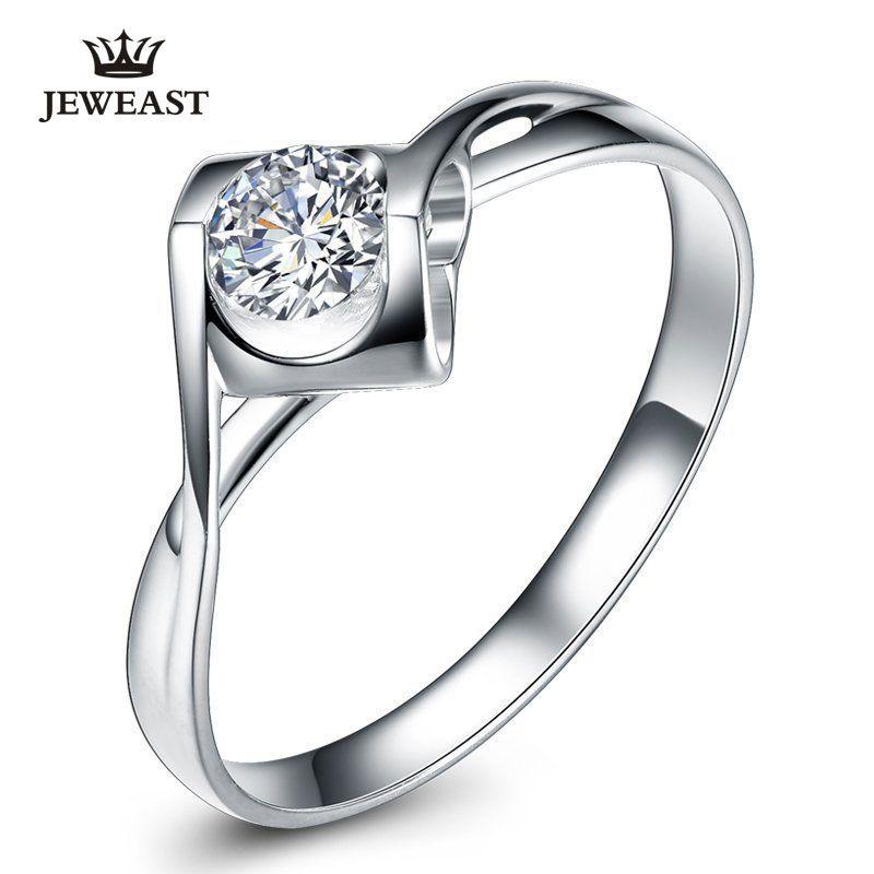 Anillo de diamante natural 18 K oro mujeres amante pareja aniversario romántico proponer a boda Sudáfrica 2017 nueva buena