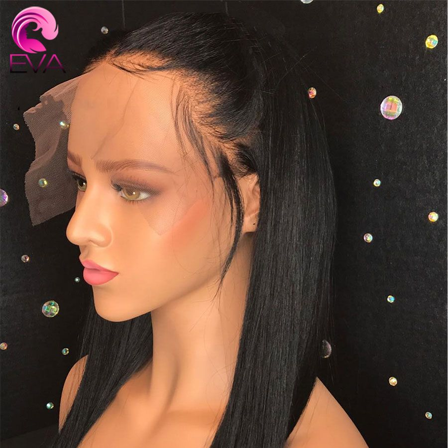 Eva Hair 150 Density 13x6 Lace Front Human Hair Wigs Pre Plucked With Baby Hair Brazilian Remy Straight Lace Front Wig For Women