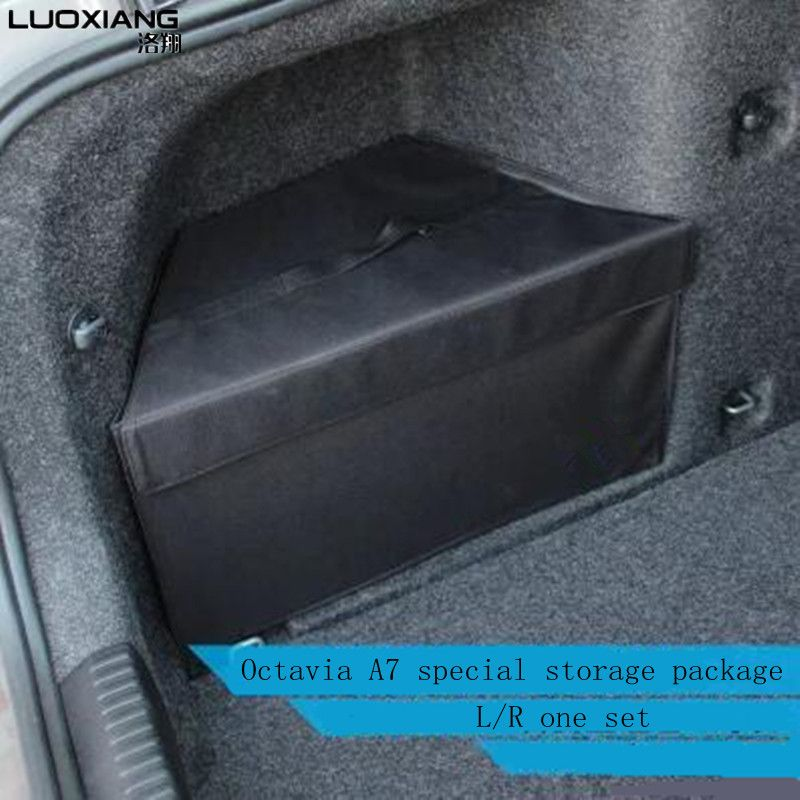 For  Octavia a7 trunk storage package special large storage bag For Octavia A7 two pieces/set