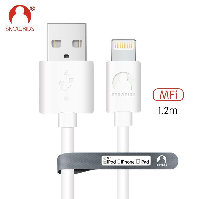 Snowkids MFi Lightning to USB Cable for  iPhone X 8 7 6 5 plus iPad mini Data Sync Charger Cable  White Compatible upto iOS11