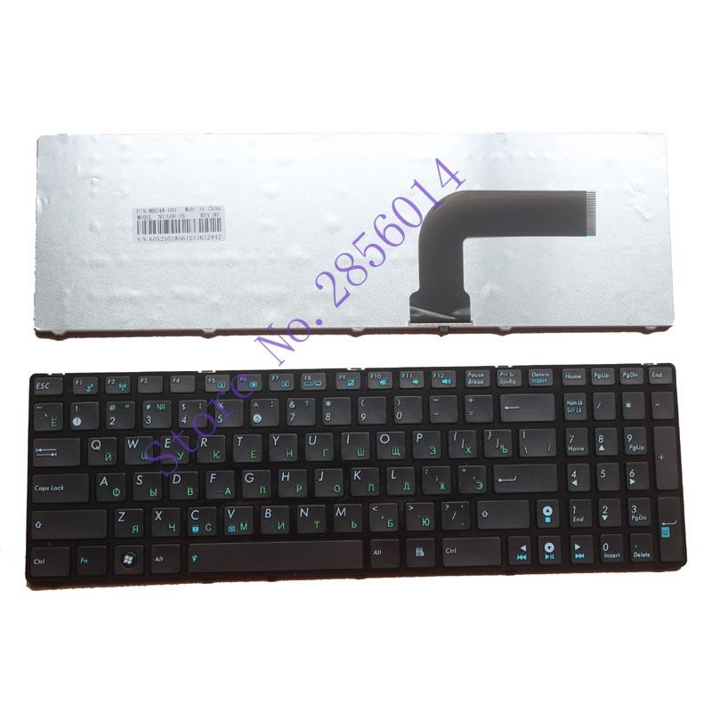 Russian Keyboard FOR ASUS K52J N50 K52 A53 G60 N73 F50 N61 G72 G51 N71 N53 F50N F50Q F50S RU With border laptop keyboard Black