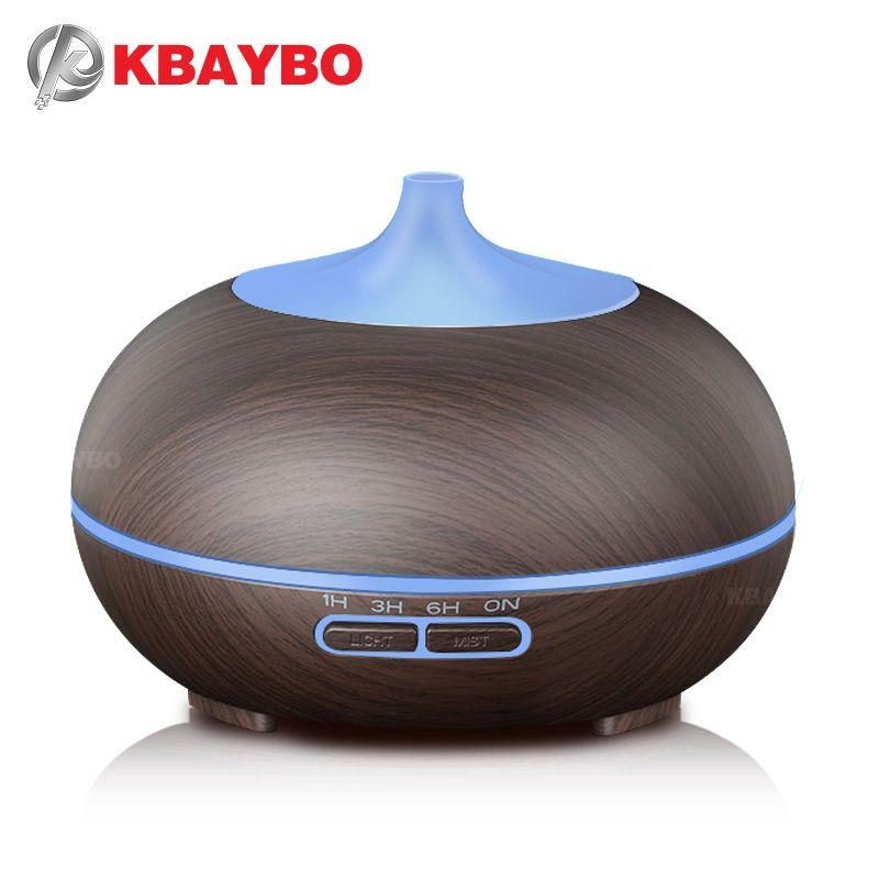 KBAYBO 300ml Aroma Diffuser Aromatherapy Wood Grain Essential Oil Diffuser Ultrasonic Humidifier