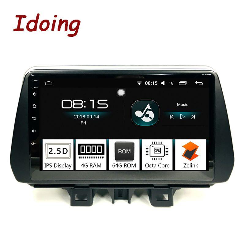 Idoing 9inch4G + 64G 2.5D IPS 8 Core Auto Android8.0 Radio Player Fit Hyundai Tucson/ix35 2018 Eingebaute GPS Navigation und GLONASS