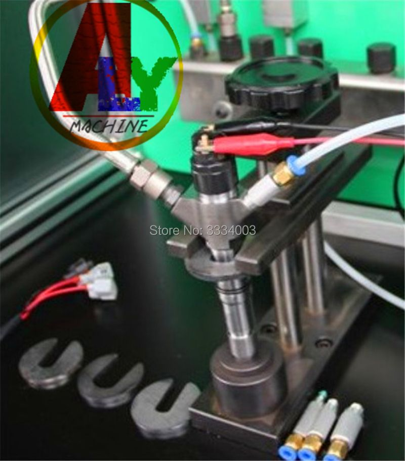 common rail injector frame stand with oil collector for common rail test bench