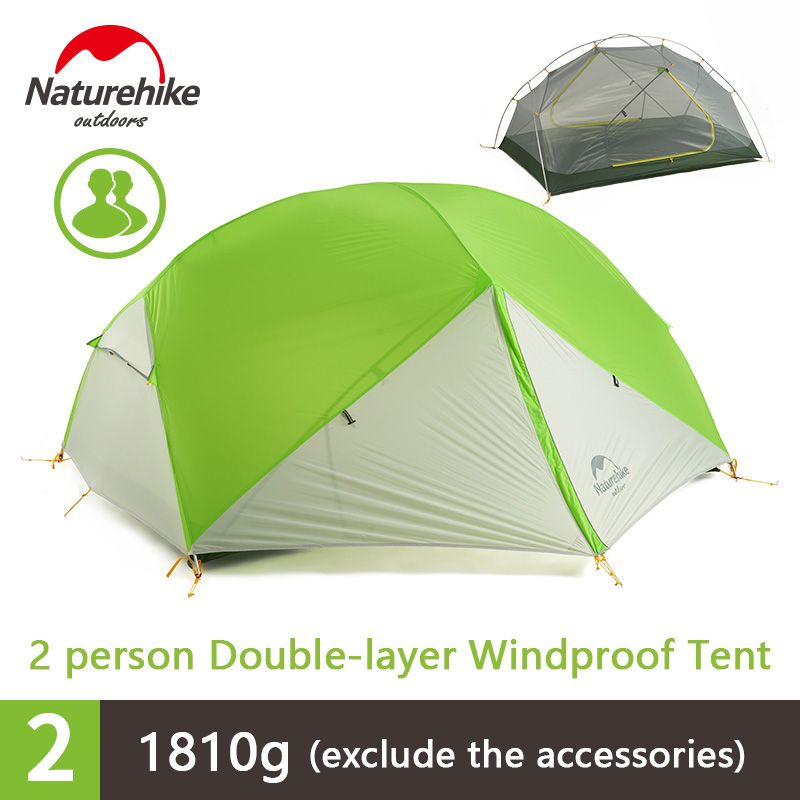 Naturehike 2 Person Outdoor Camping Tent Double-layer Waterproof 3 Season Tent NH17T006-M