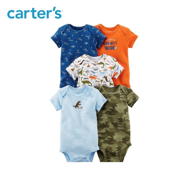 Carter's 5-Pack baby children kids clothing Boy All Seasons Cotton Short-Sleeve Original Bodysuits 126H319