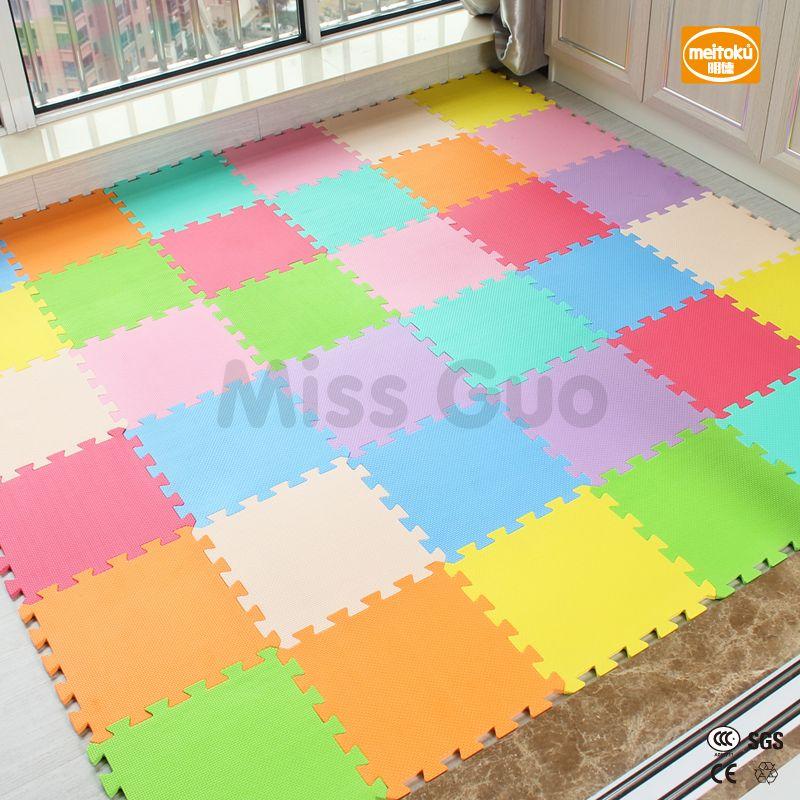 Meitoku bébé EVA De Jeu En Mousse Puzzle Mat/18 ou 24/lot en Exercice Tuiles de Plancher Tapis pour Enfant, chaque 30 cm X 30 cm, 1 75cmthick
