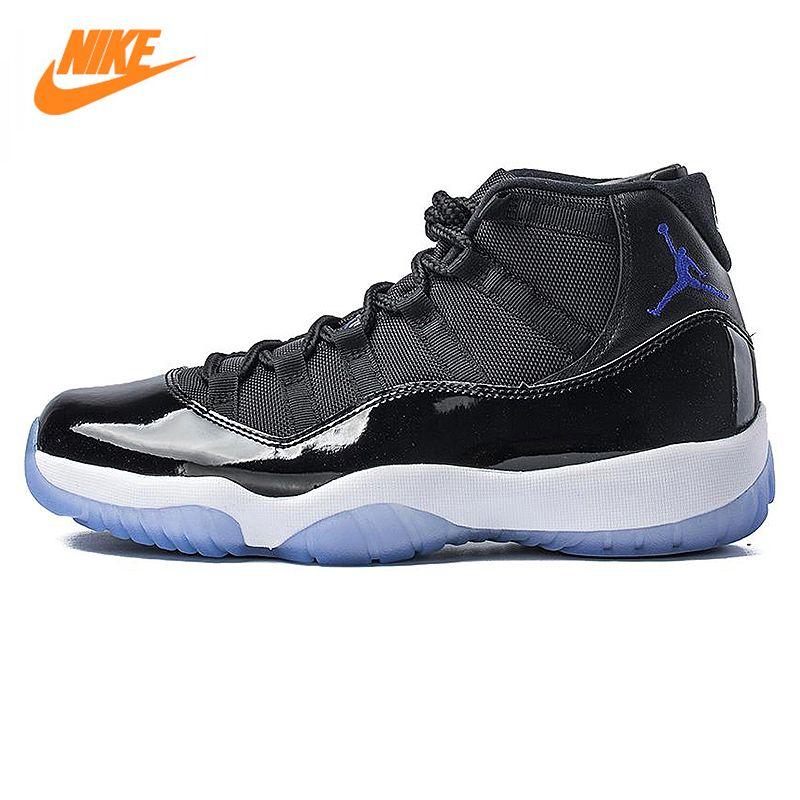 NIKE Air Jordan 11 Space Jam AJ11 Männer Basketball-schuhe, schwarz, Dämpfung Rutschfeste Abriebfeste 378037 003