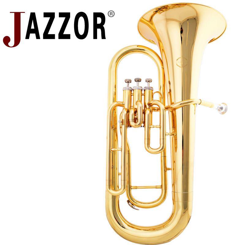 JAZZOR JZEU-300 Professionelle Euphonium B Flache Gold Lack Messing wind instrument mit mundstück und fall
