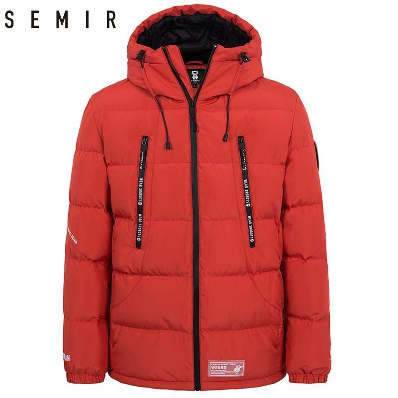 SEMIR unten jacke für mann dicke warme winter jacke männer 80% ente unten jacke kleidung feder mantel männer casual oberbekleidung